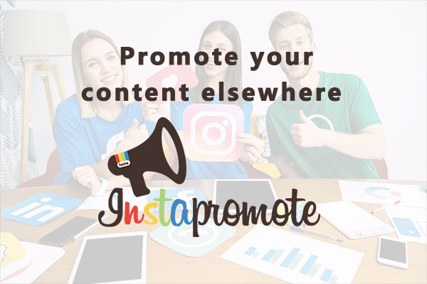 Promote your content elsewhere